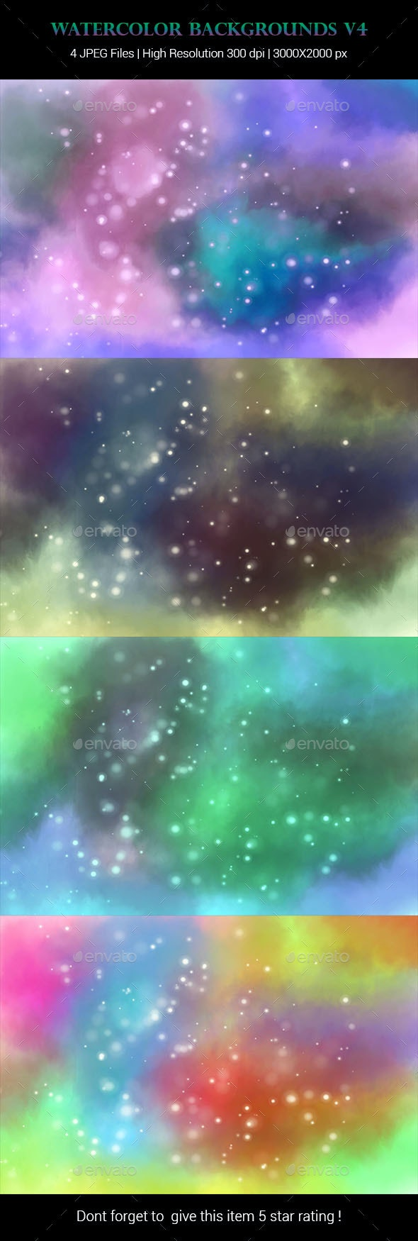 Watercolor Backgrounds v4 - Backgrounds Graphics