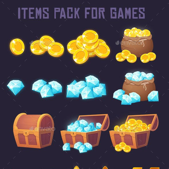 Pack of 45 Game Elements