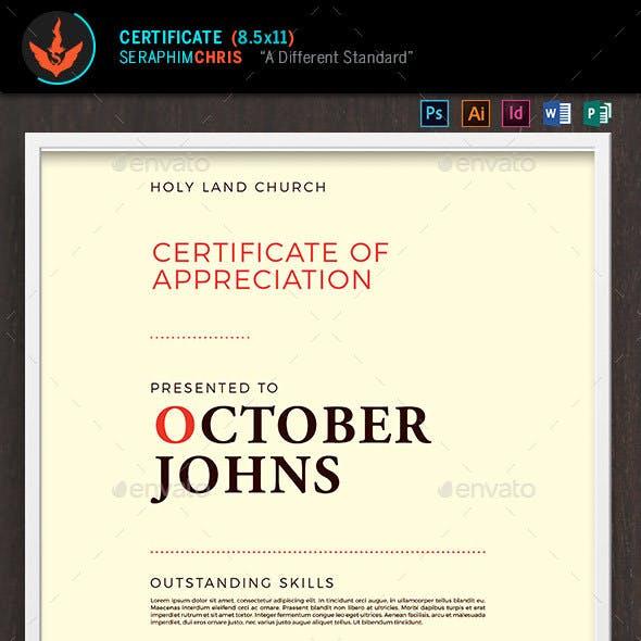 King Modern Church Certificate Template