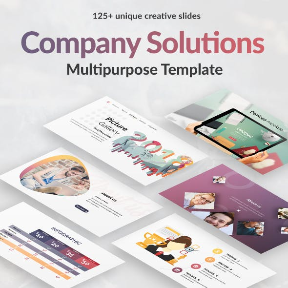 Company Solutions Google Slide Template