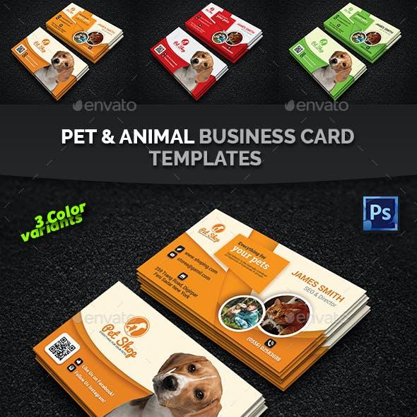 Pet Business Card | Animal Business Card Templates