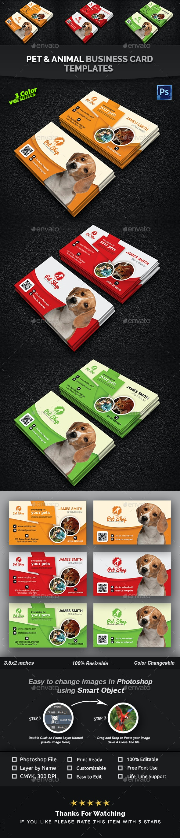 Pet Business Card | Animal Business Card Templates - Creative Business Cards