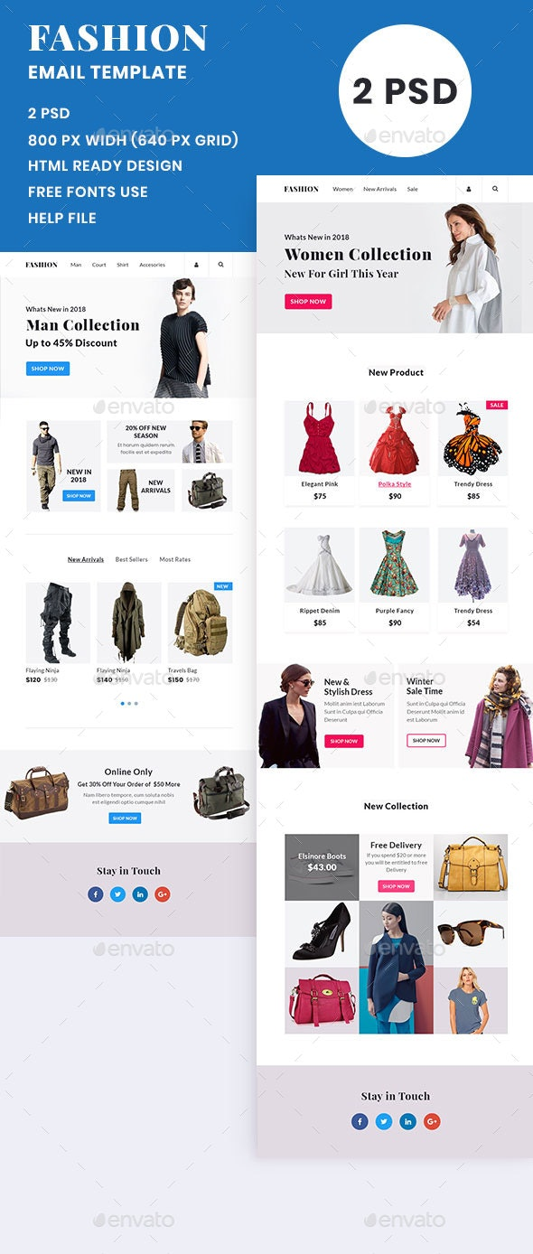 Fashion Man/Women Shop Email Template