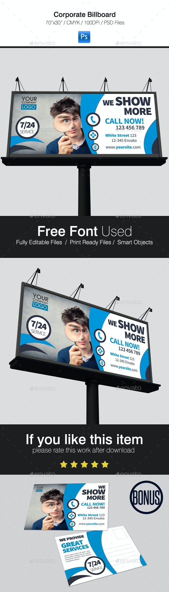 Corporate Billboard - Signage Print Templates
