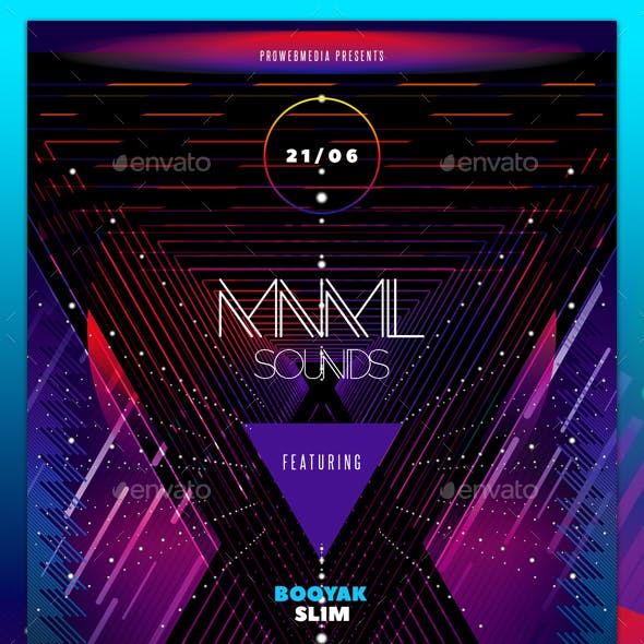 Abstract Neon Flyer Template