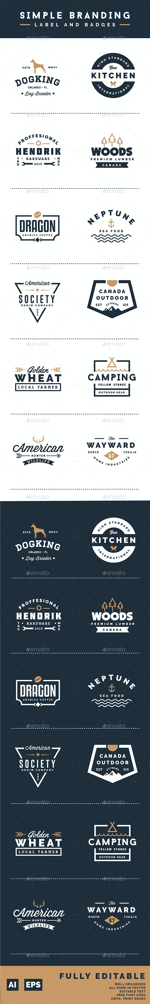 Simple Branding Labels and Badges