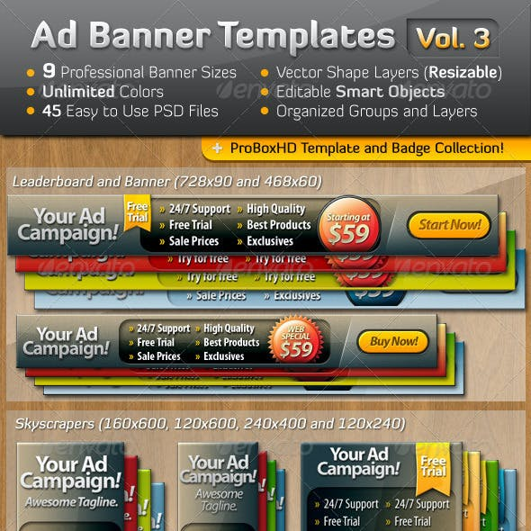Ad Banner Template Collection Vol. 3
