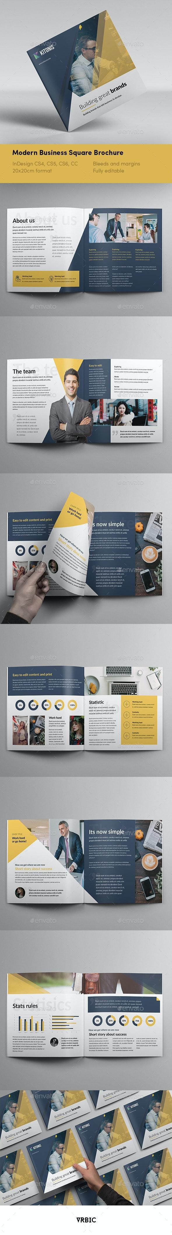 Modern Business Square Brochure - Brochures Print Templates