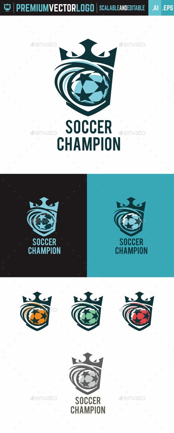 Soccer Champion - Sports Logo Templates