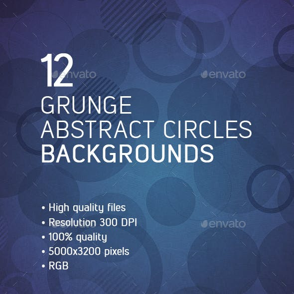 Grunge Abstract Circles Backgrounds