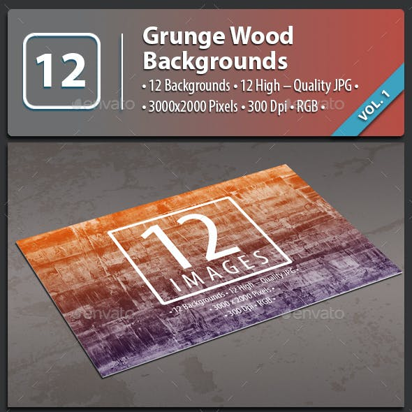 12 Grunge Wood Backgrounds
