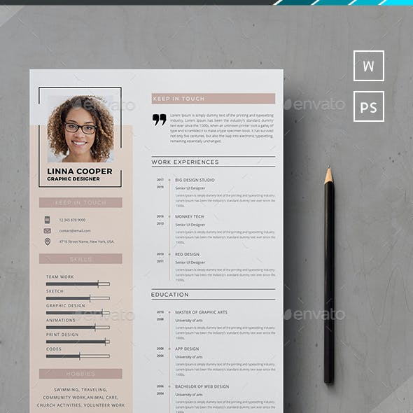 Design And Resume Photoshop Graphics Designs Templates