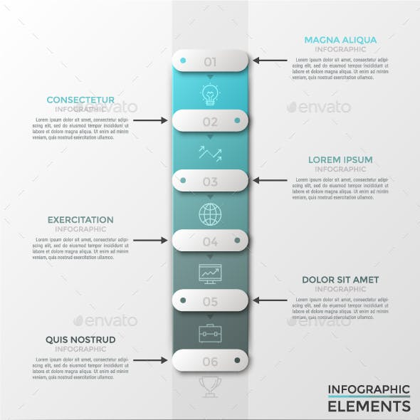 Modern Infographic Paper Timeline(2 Colors)
