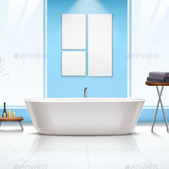 Bathroom Interior Composition