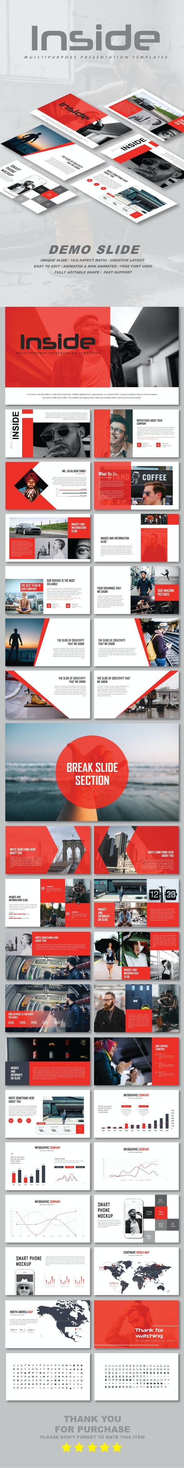 Inside Multipurpose Google Slide Templates