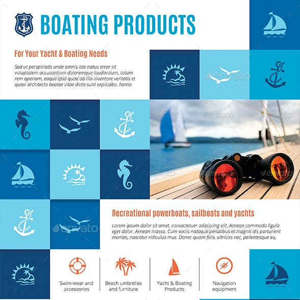 Business Flyer: Boating Products
