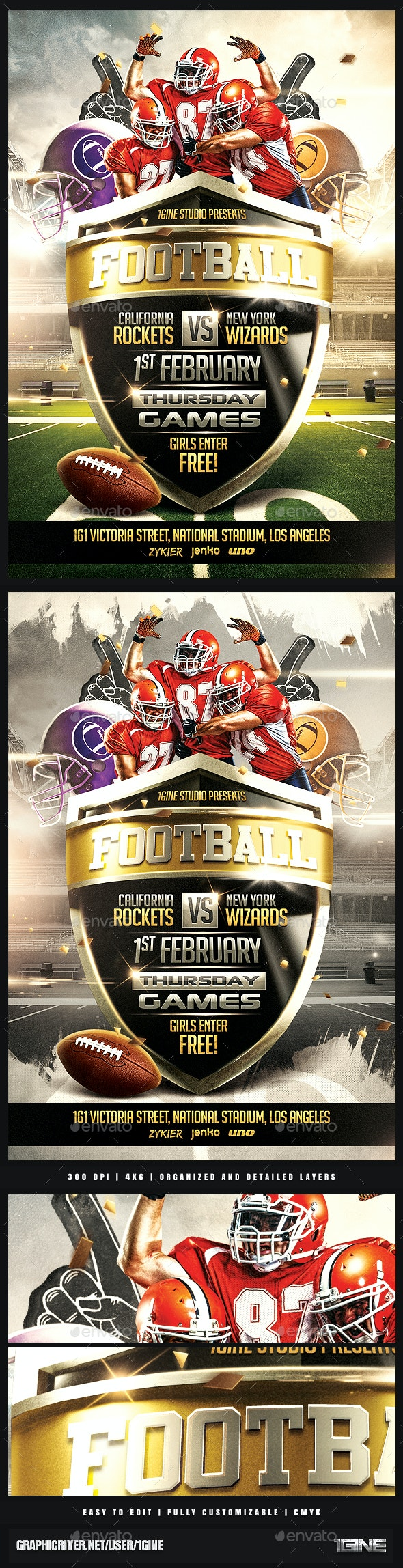 Football Night Flyer Template v2 - Sports Events
