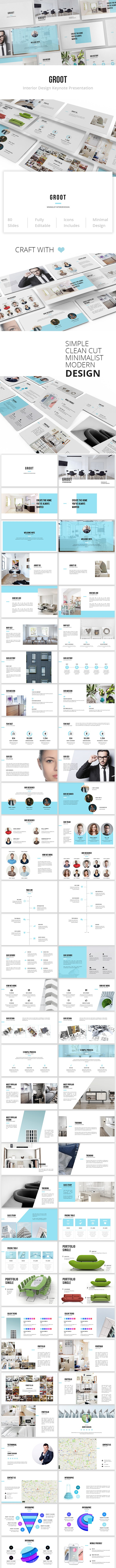 Groot - Interior Design Keynote Template - Creative Keynote Templates