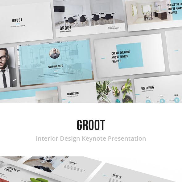 Groot - Interior Design Keynote Template