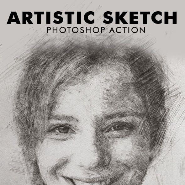 Artistic Sketch Photoshop Action