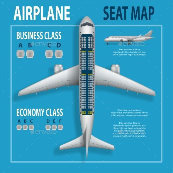 Flyer with Airplane Seats Plan