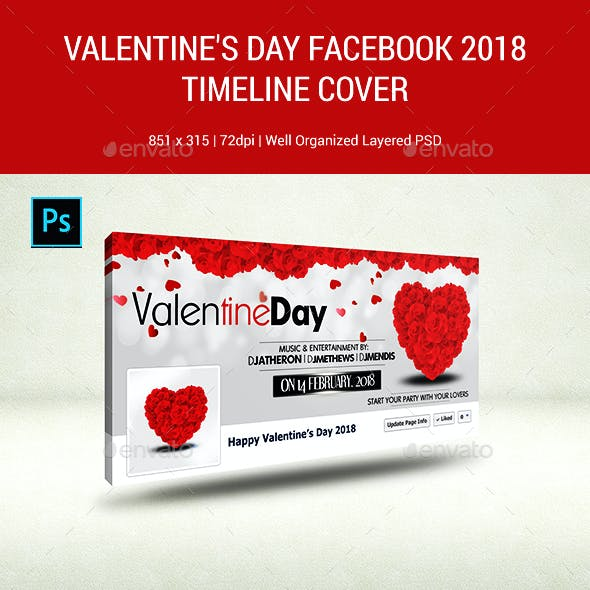 Valentine Day Facebook Cover 2018 -Timeline Cover