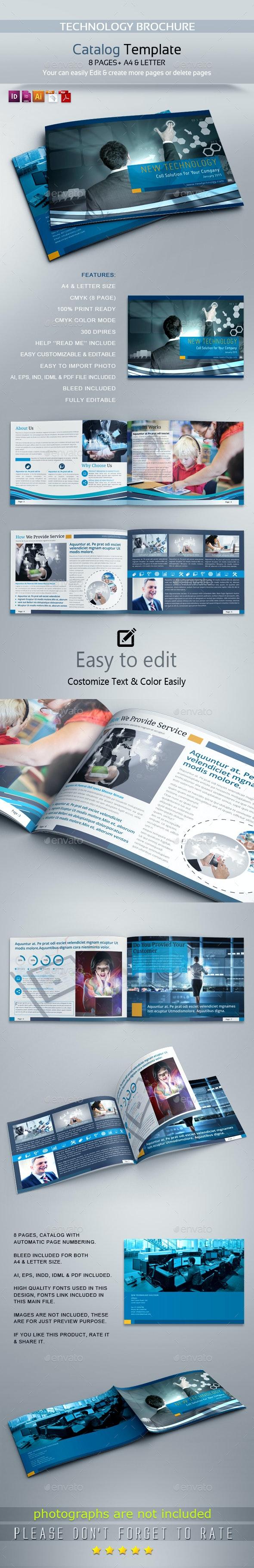 Technology Brochure Catalog Design - Brochures Print Templates