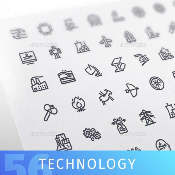 Technology Line Icons Set