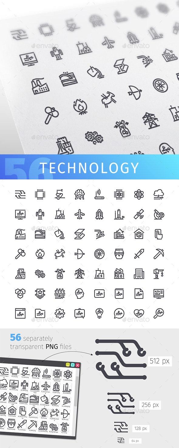 Technology Line Icons Set