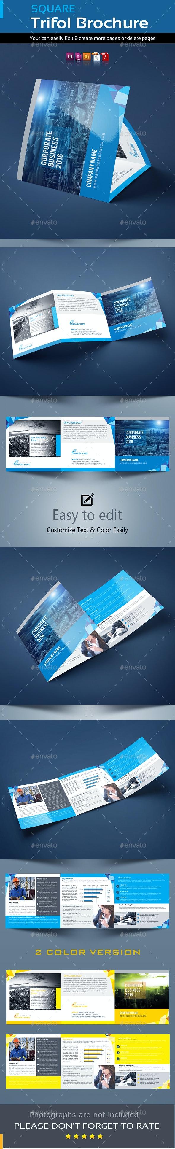 Squire Tri-Fold Brochure Template - Brochures Print Templates