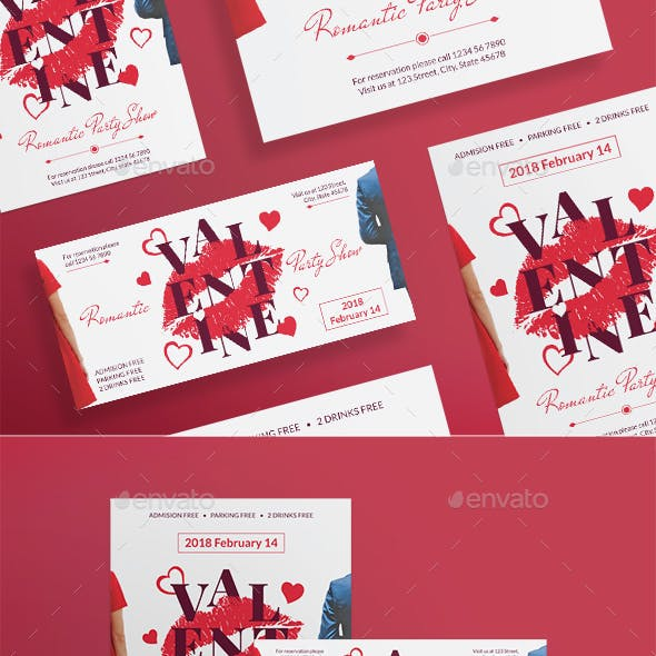 Valentine's Day Party Flyers