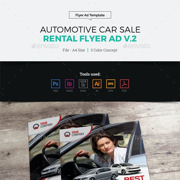 Automotive Car Sale Rental Flyer Ad v2