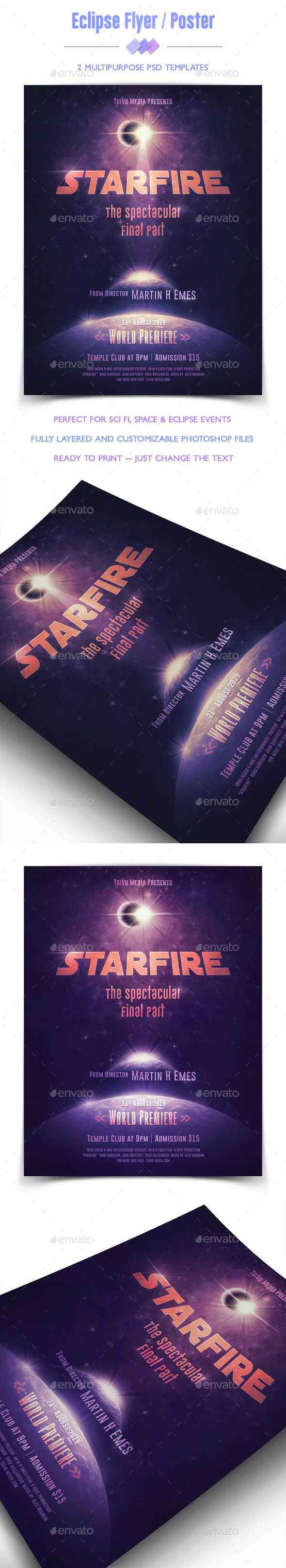 Eclipse Flyer / Poster - Clubs & Parties Events