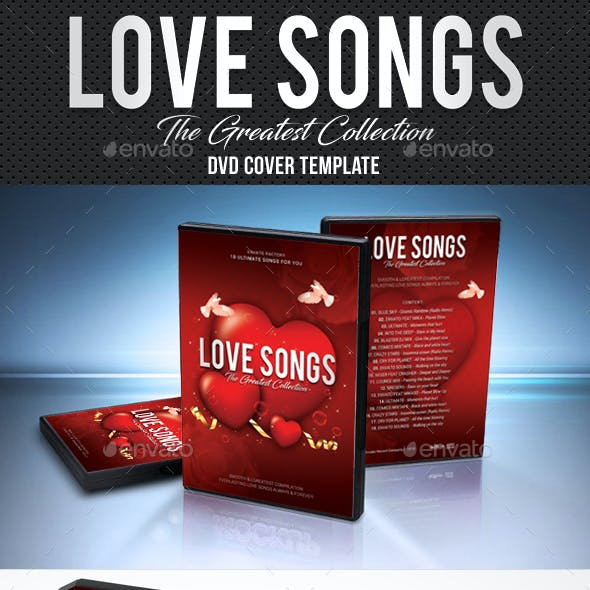 Love Songs DVD Cover Template