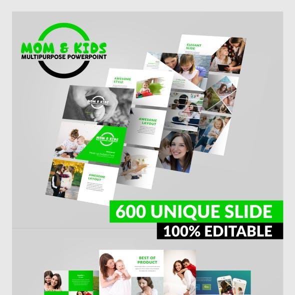 MOM & KIDS - Multipurpose PowerPoint Template