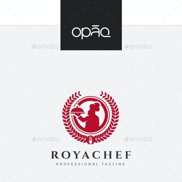 Royal Restaurant Chef Logo