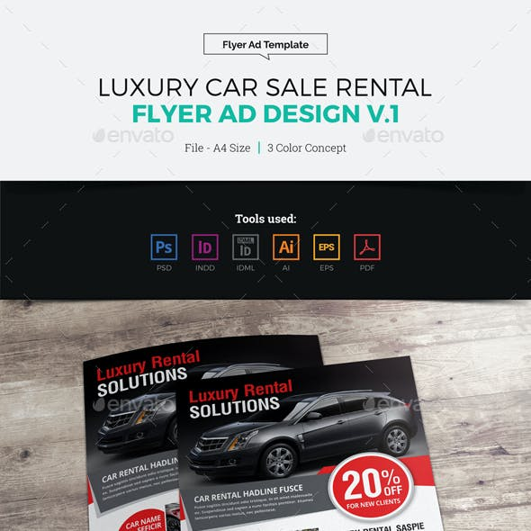 Luxury Car Sale Rental Flyer Ad Design