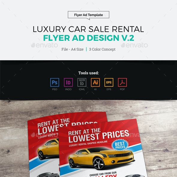 Luxury Car Sale Rental Flyer Ad v2
