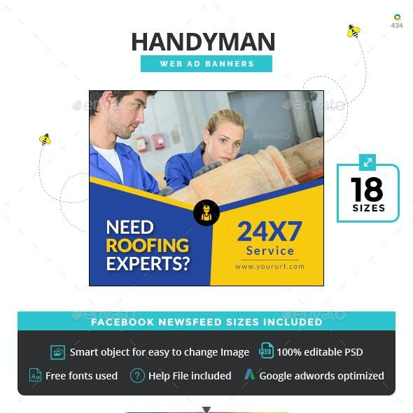Handyman Banner Set