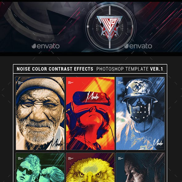 Noise Color Contrast Effects Photoshop Template V1
