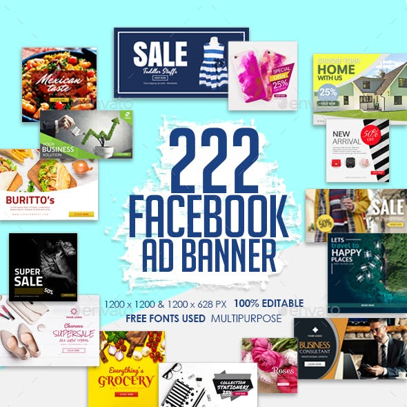 Facebook Ad Banners Vol. 2