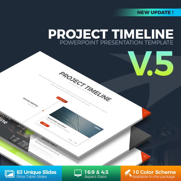 Project Timeline PowerPoint Template - Business PowerPoint Templates