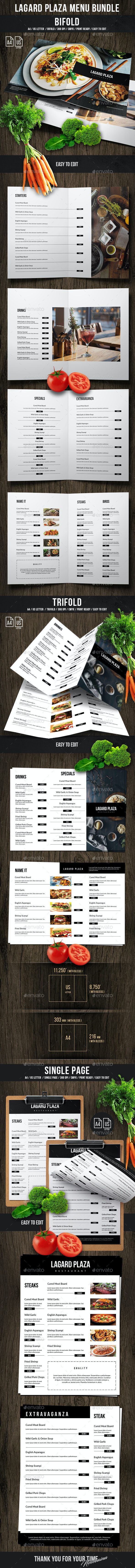 Lagard Plaza Food Menu Bundle - Food Menus Print Templates