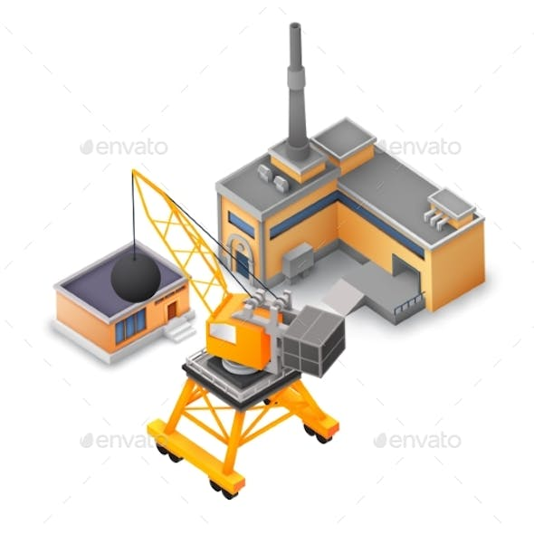 Isometric Industrial Buildings Collection