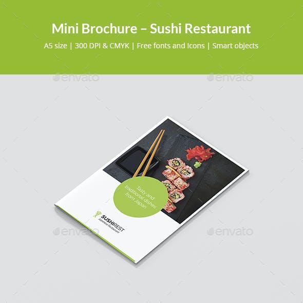 Mini Brochure – Sushi Restaurant A5