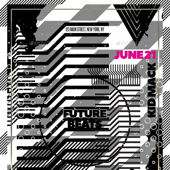 Futuristic Party Flyer Template