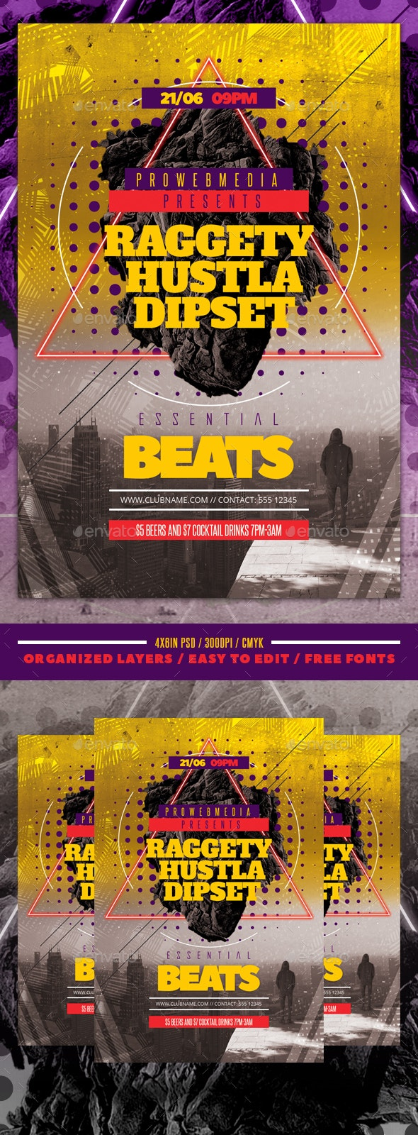 Hip Hop Flyer Template - Events Flyers