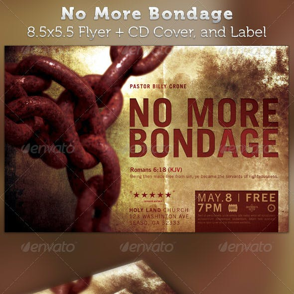 No More Bondage Half Page Flyer and CD Cover