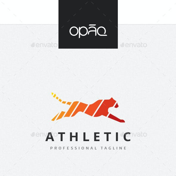 Athletic Feline Action Logo