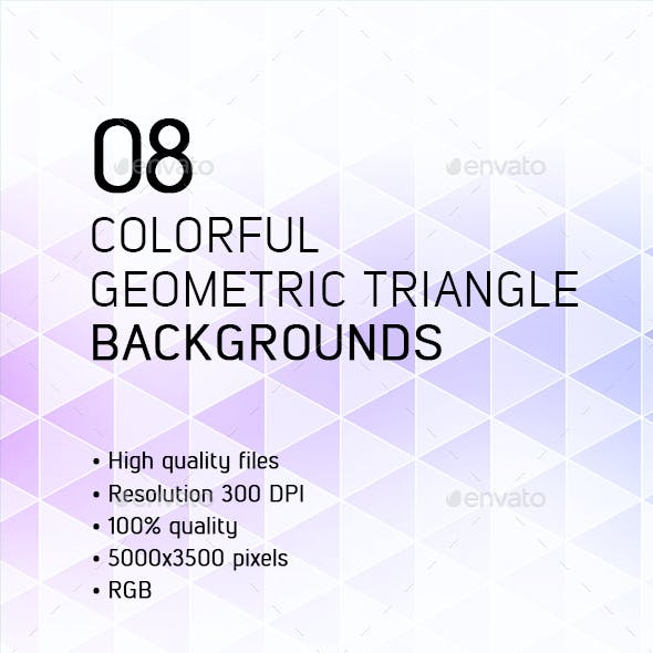 Colorful Geometric Triangle Backgrounds